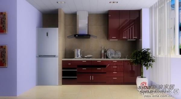 简约 loft 厨房图片来自用户2738845145在120㎡紫色诱人的loft,把爱带回家!67的分享