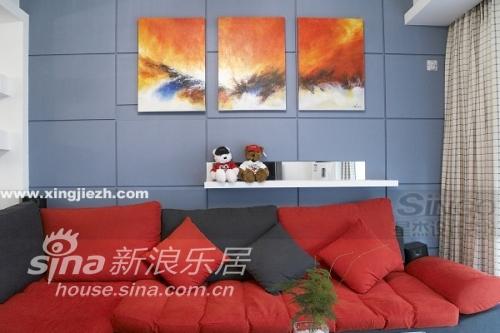 简约 二居 客厅图片来自用户2739153147在别致的两房,简约不简单55的分享