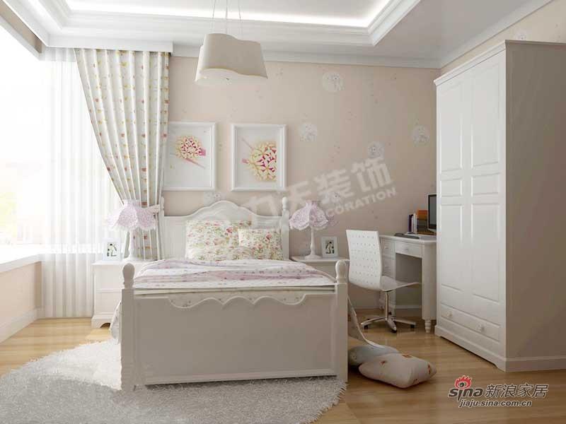 欧式 二居 卧室图片来自阳光力天装饰在雅诗兰亭-两室一厅一厨一卫-简欧风格25的分享