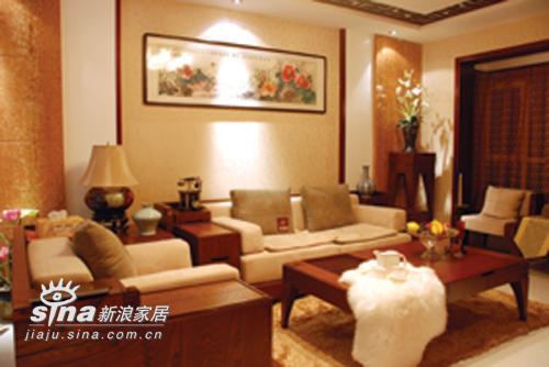 中式 三居 客厅图片来自用户2757926655在湖景一号中式样板间46的分享