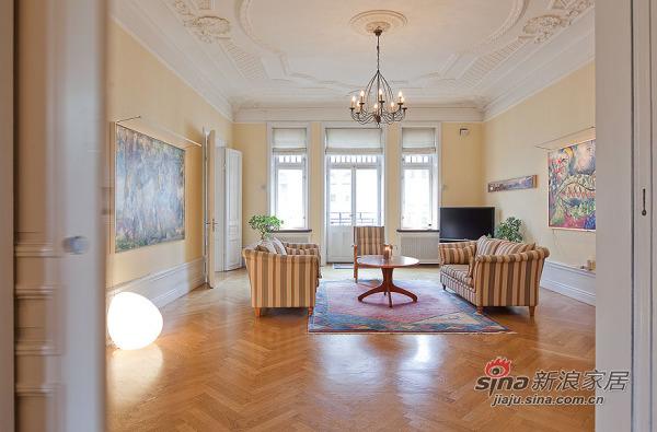 北欧 别墅 客厅图片来自用户1903515612在150平北欧精致混搭风格公寓 稳重不失温馨79的分享
