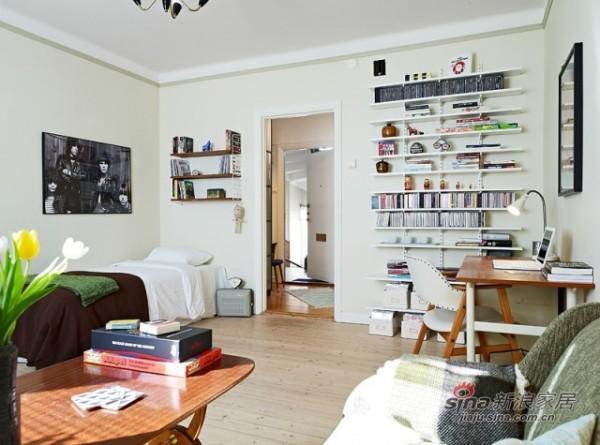 这个40平米的房间一目了然,客厅(卧室)