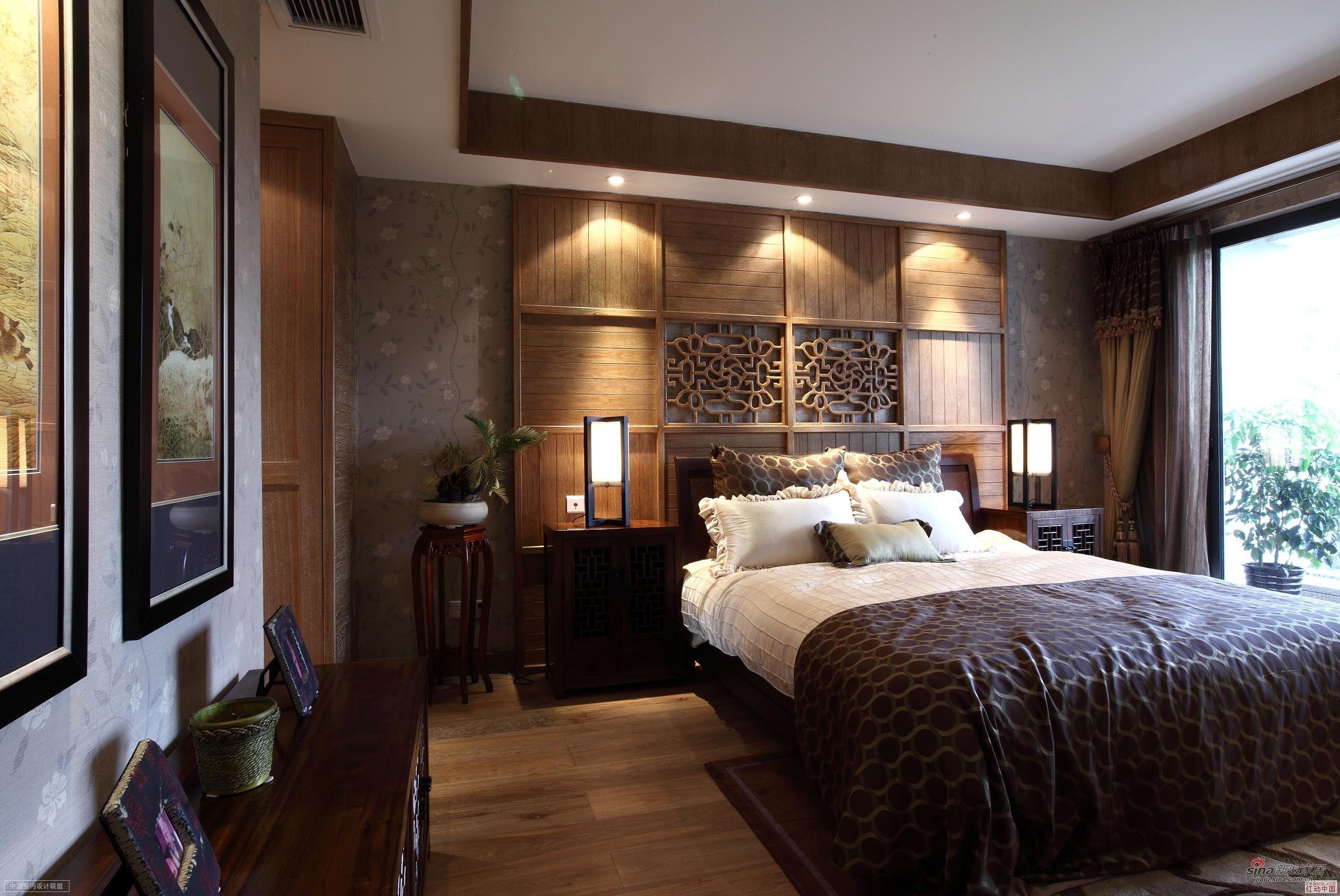 中式 复式 卧室图片来自用户1907659705在【高清】260平古典中式风89的分享