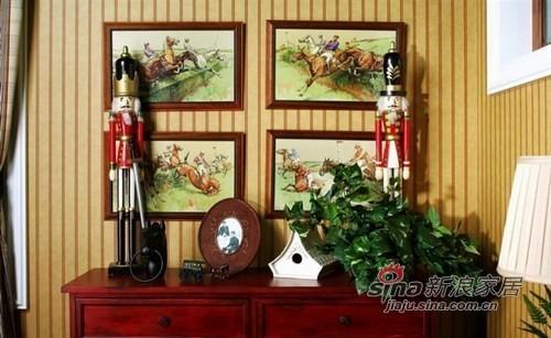田园的家具和装饰画