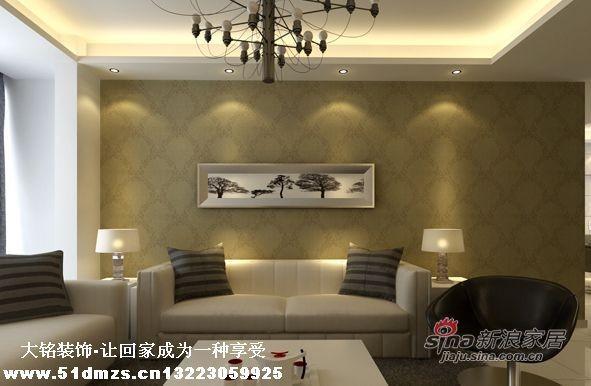 现代简约风格家庭装修设计-客厅设计效果图