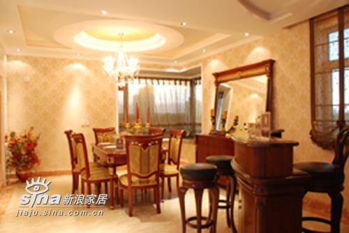 欧式 三居 餐厅图片来自用户2746889121在欧式风格样板房(244平米)76的分享