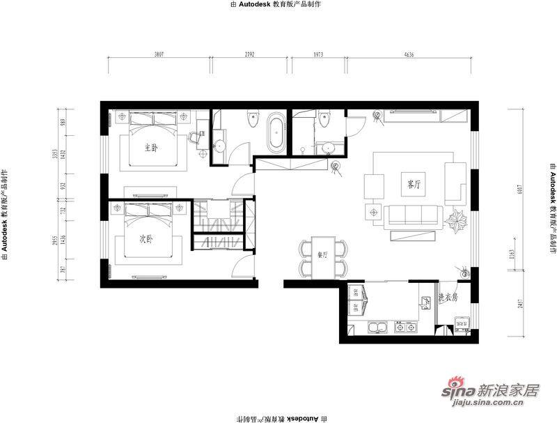 简约 三居 客厅图片来自用户2738829145在80后白领男精辟3居就是帅92的分享