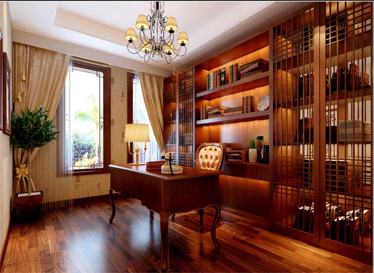 中式 别墅 书房图片来自用户1907658205在19万铸造孔雀城260平完美中式风格别墅64的分享