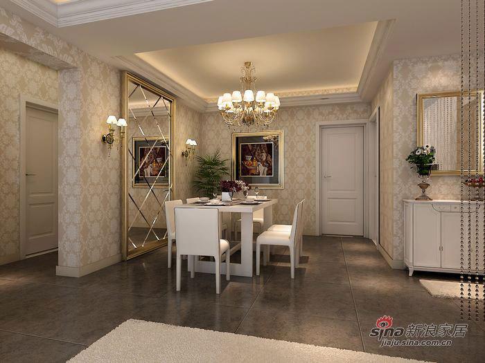 欧式 三居 餐厅图片来自用户2746889121在3.4万打造105平写意简欧三居91的分享