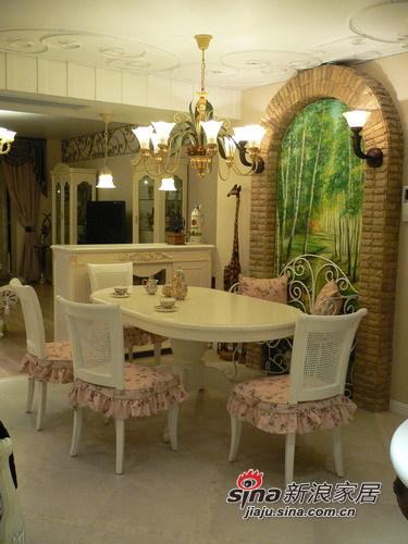 田园 三居 餐厅图片来自用户2737791853在8万打造110㎡英伦田园范儿三居91的分享