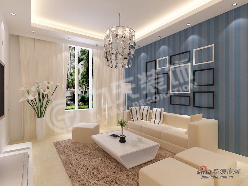 简约 二居 客厅图片来自阳光力天装饰在简洁明快的时尚空间40的分享