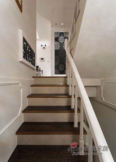 现代 复式 楼梯图片来自佰辰生活装饰在简约大气98平舒适自然美家19的分享
