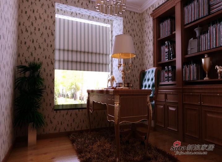美式 三居 书房图片来自用户1907685403在【精美高清-沈阳实创装饰】26的分享