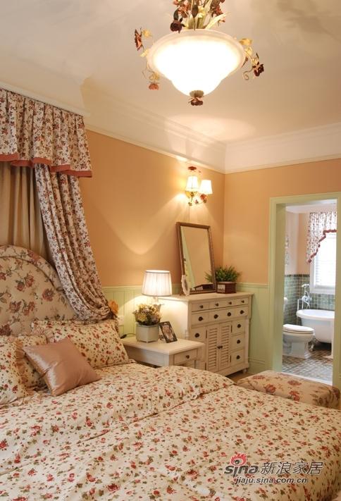 田园 四居 卧室图片来自用户2737791853在【多图】乡村田园风格~暖色调小碎花25的分享