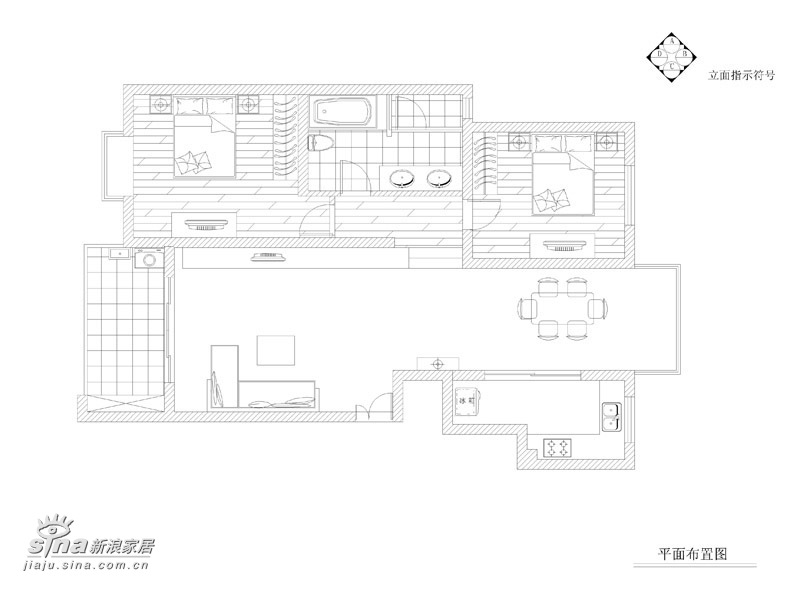 简约 一居 户型图图片来自用户2556216825在一套韩国风格的时尚家居68的分享