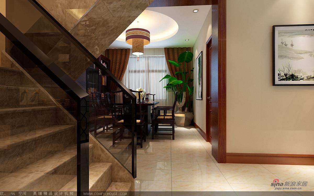 中式 别墅 餐厅图片来自用户1907662981在新中式风格设计84的分享
