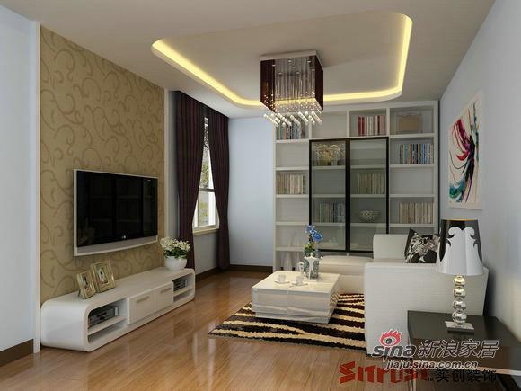 简约 一居 客厅图片来自用户2557979841在4.6万装50㎡简约时尚蜗居小家45的分享