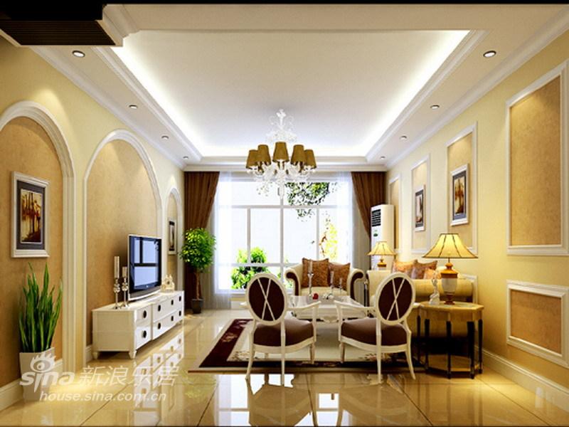 欧式 三居 客厅图片来自用户2757317061在8万打造150平简约欧式花园洋房79的分享