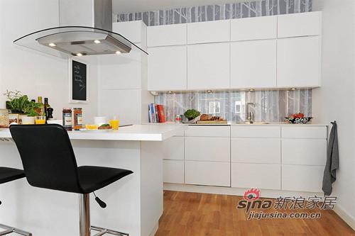 简约 一居 厨房图片来自用户2737759857在白领女4万巧装49平1居一体式单身公寓70的分享