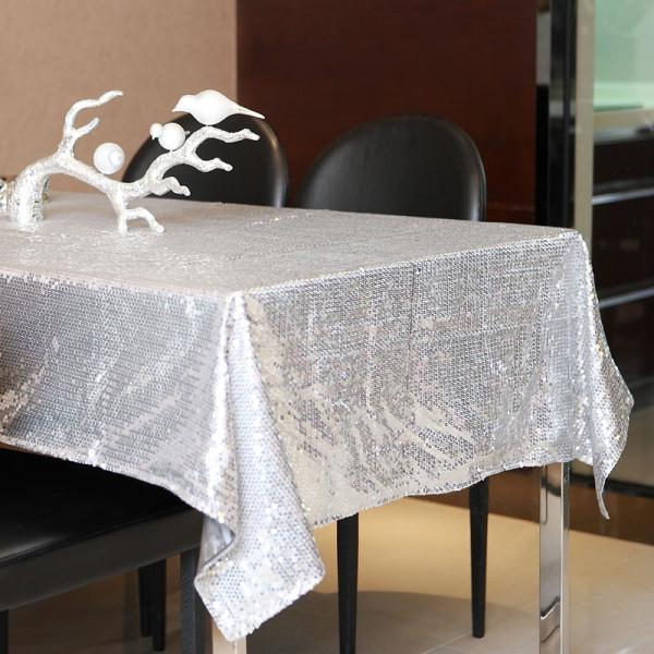 浅金色亮片万能盖巾 餐桌布台布床上披巾搭巾 装饰布艺 家饰