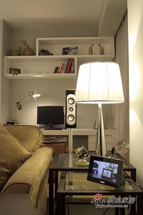 简约 二居 书房图片来自用户2557979841在80后6.5万装95平时尚简约两居28的分享
