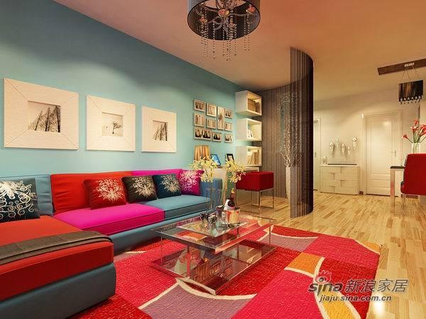 简约 二居 客厅图片来自用户2738820801在6.9万撞色美家2居不容错过24的分享