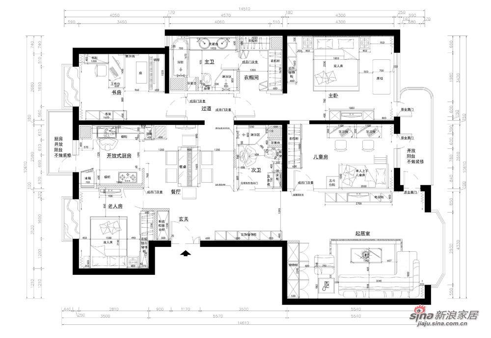 简约 四居 客厅图片来自用户2745807237在6.2万打造138平四居朴素真谛家居88的分享