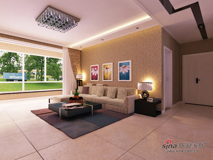 简约 二居 客厅图片来自用户2559456651在4.4万打造简约两居室62的分享