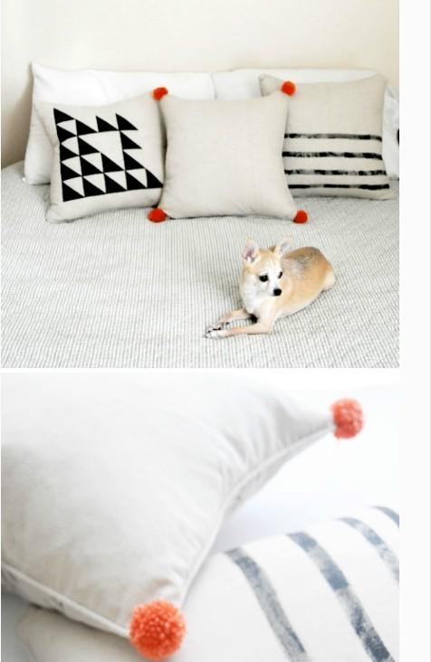 装饰过的普通枕头