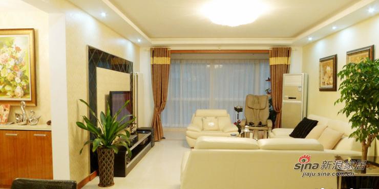 简约 二居 客厅图片来自用户2737786973在孝顺女18万打造160平温馨房12的分享