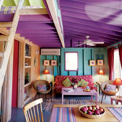 紫色 蓝色 绚丽 色彩 客厅图片来自用户2771736967在屌丝变文艺 11款极具文艺时尚气息的客厅的分享