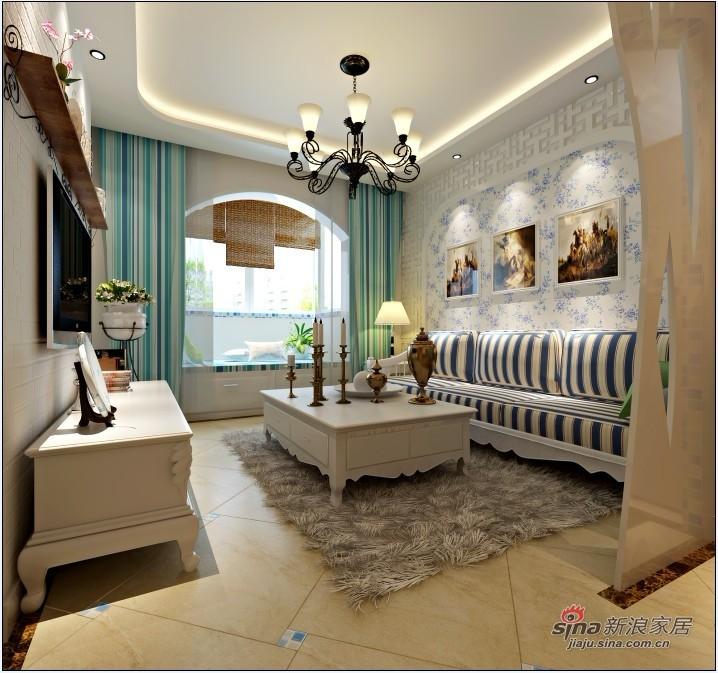 简约 一居 客厅图片来自用户2738813661在60平米小两居地中海打造梦幻家居46的分享
