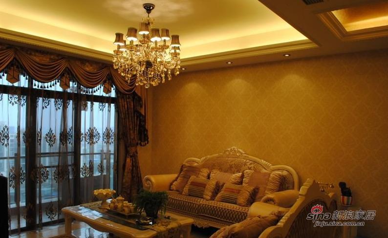 欧式 三居 客厅图片来自用户2757317061在9万120平简约欧式三口之家61的分享
