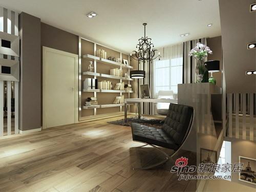二楼地面采用的是实木复合地板,这样铺地热