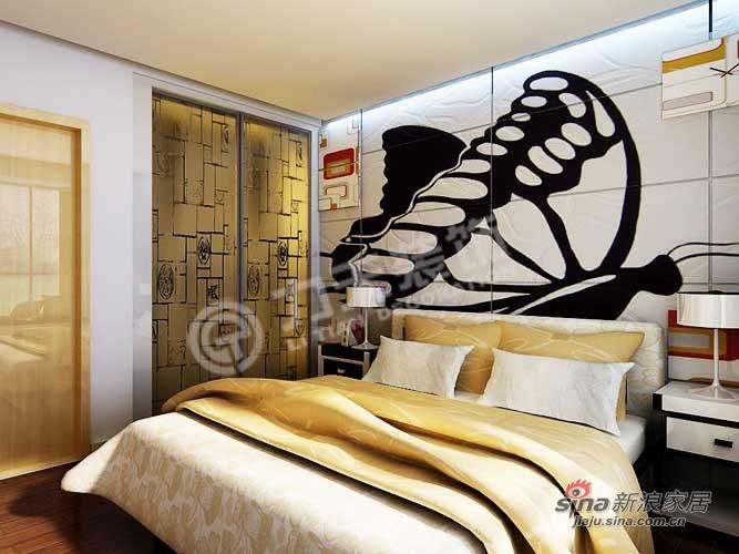 简约 一居 卧室图片来自阳光力天装饰在旷世新城46的分享