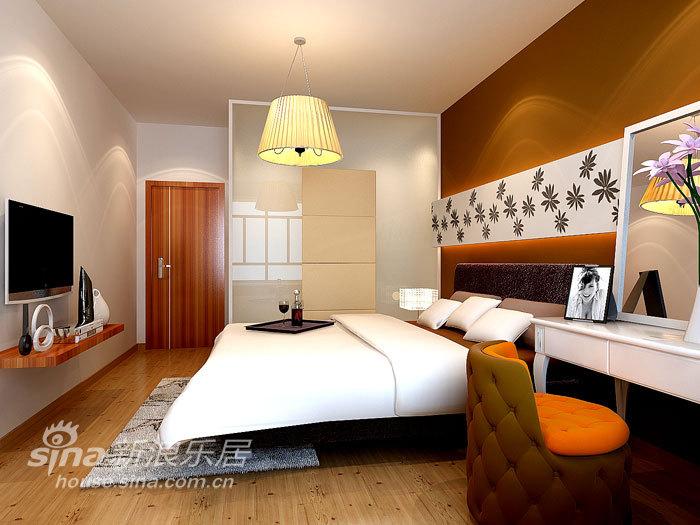 简约 一居 卧室图片来自用户2559456651在金都杭城现代一居58的分享