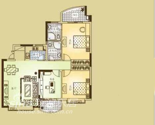 其他 三居 户型图图片来自用户2557963305在金色维也纳32的分享