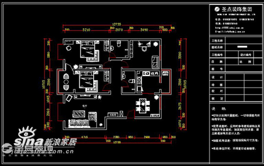 简约 三居 户型图图片来自用户2738820801在主场三居简约经典设计36的分享