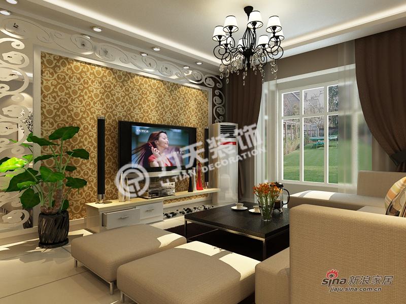 简约 三居 客厅图片来自阳光力天装饰在福源九方-三室两厅一厨一卫-现代简约83的分享