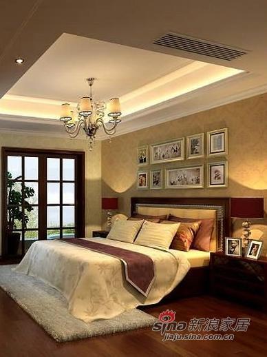 中式 三居 卧室图片来自用户1907662981在6万装143平新中式风格三居20的分享