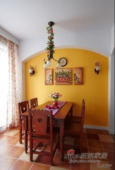 田园 二居 餐厅图片来自用户2737946093在135平方田园自然宜人二居室59的分享
