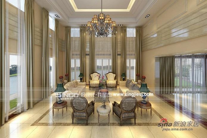 欧式 别墅 客厅图片来自用户2746889121在700平米大空间的欧式别墅装修94的分享