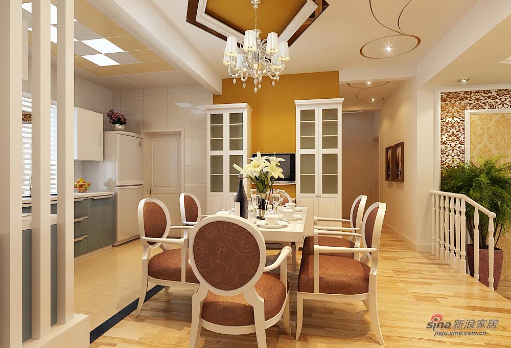 欧式 二居 餐厅图片来自用户2772873991在9.1万打造上和园著137平(错层)简欧两居室63的分享