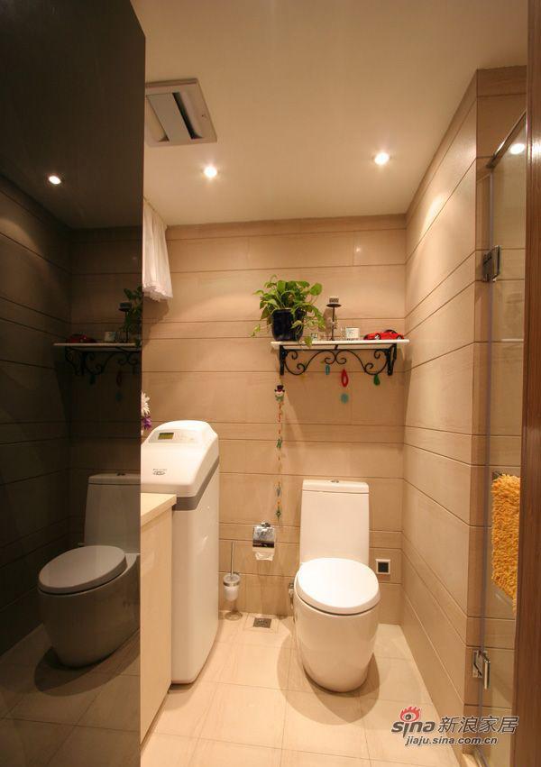 现代 三居 卫生间图片来自装修微日记在【高清】114平古朴典雅现代3居室64的分享