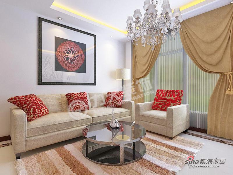 简约 二居 客厅图片来自阳光力天装饰在上榀坐-2室2厅1卫1厨-现代简约46的分享