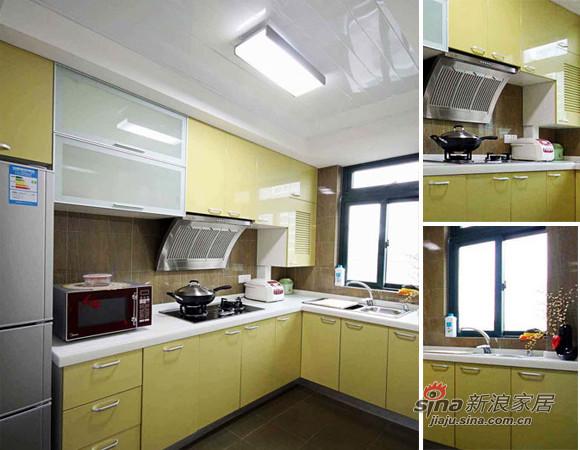 柠檬黄的整体厨柜让人觉得充满了活力