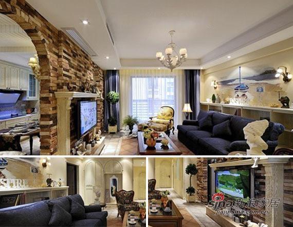 客厅的地面用的都是仿古砖