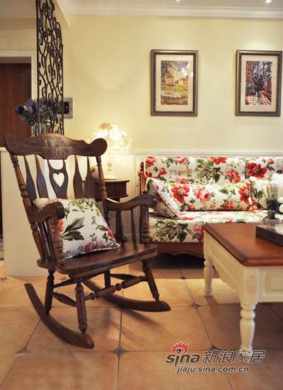 田园 三居 客厅图片来自用户2737791853在130平偏偏爱上你的美式田园家装53的分享