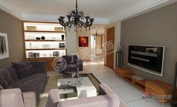 简约 三居 客厅图片来自阳光力天装饰在万通新城-3室2厅2卫1厨-现代简约43的分享