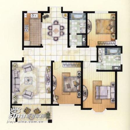 其他 三居 户型图图片来自用户2558757937在业之峰装饰书房设计续98的分享